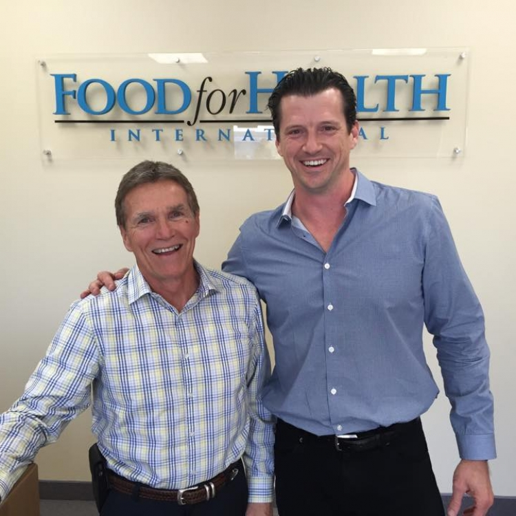 Dr Tim Davis with Food For Health